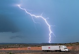 Lightning and truck - Tucumcari, New Mexico