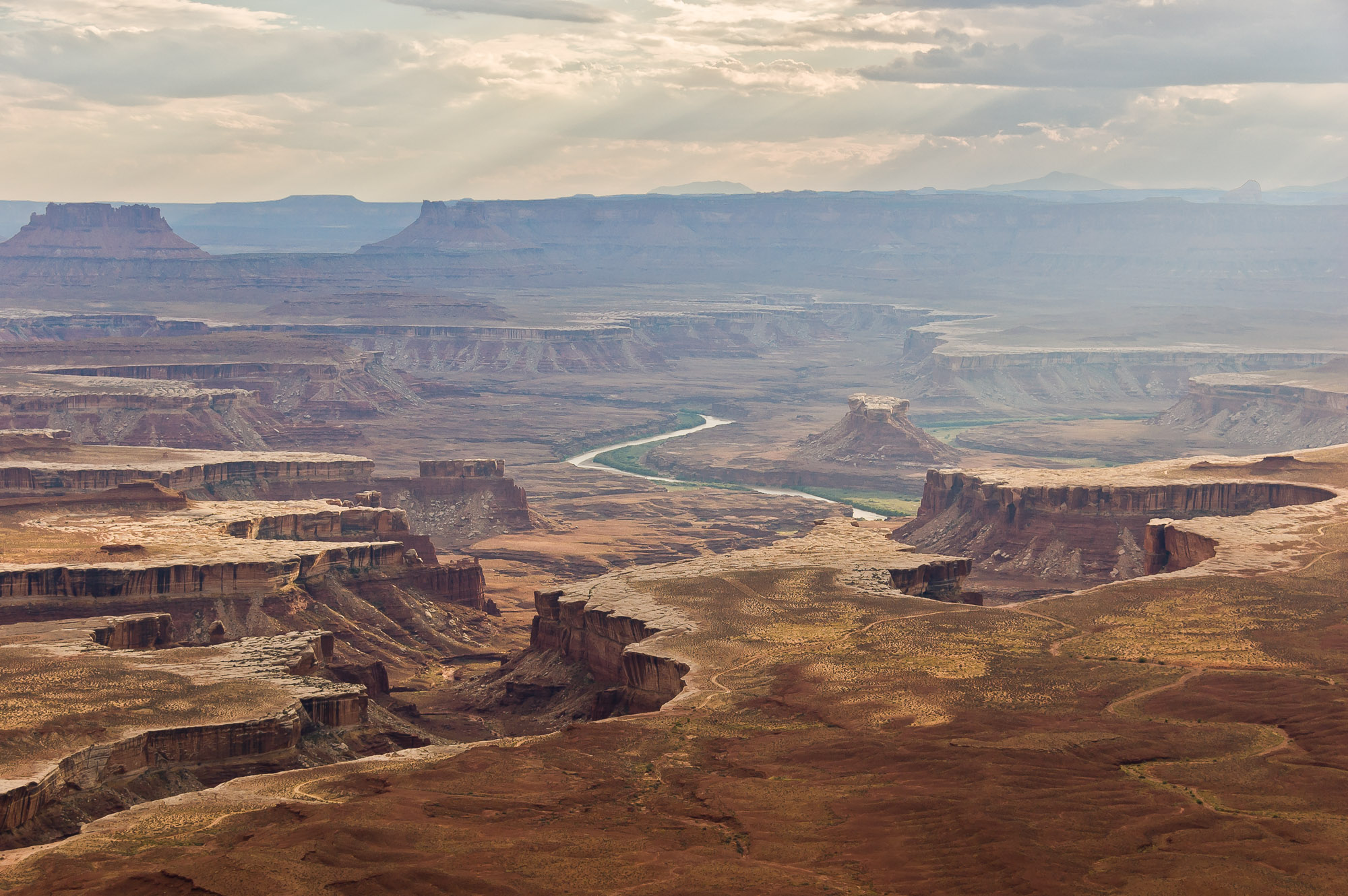 View over Stillwater Canyon and the Green River - Canyonlands National Park, Utah