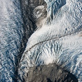 Glacier as seen from air - Aoraki-Mount Cook National Park, New Zealand