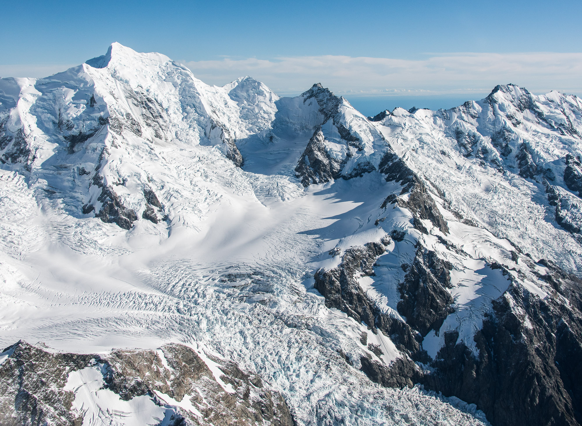 Southern Alps glacier - Aoraki-Mount Cook National Park, New Zealand