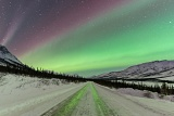 Aurora over Dalton Highway - Brooks Range, Alaska