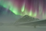 Aurora over Alaska Pipeline - Brooks Range, Alaska