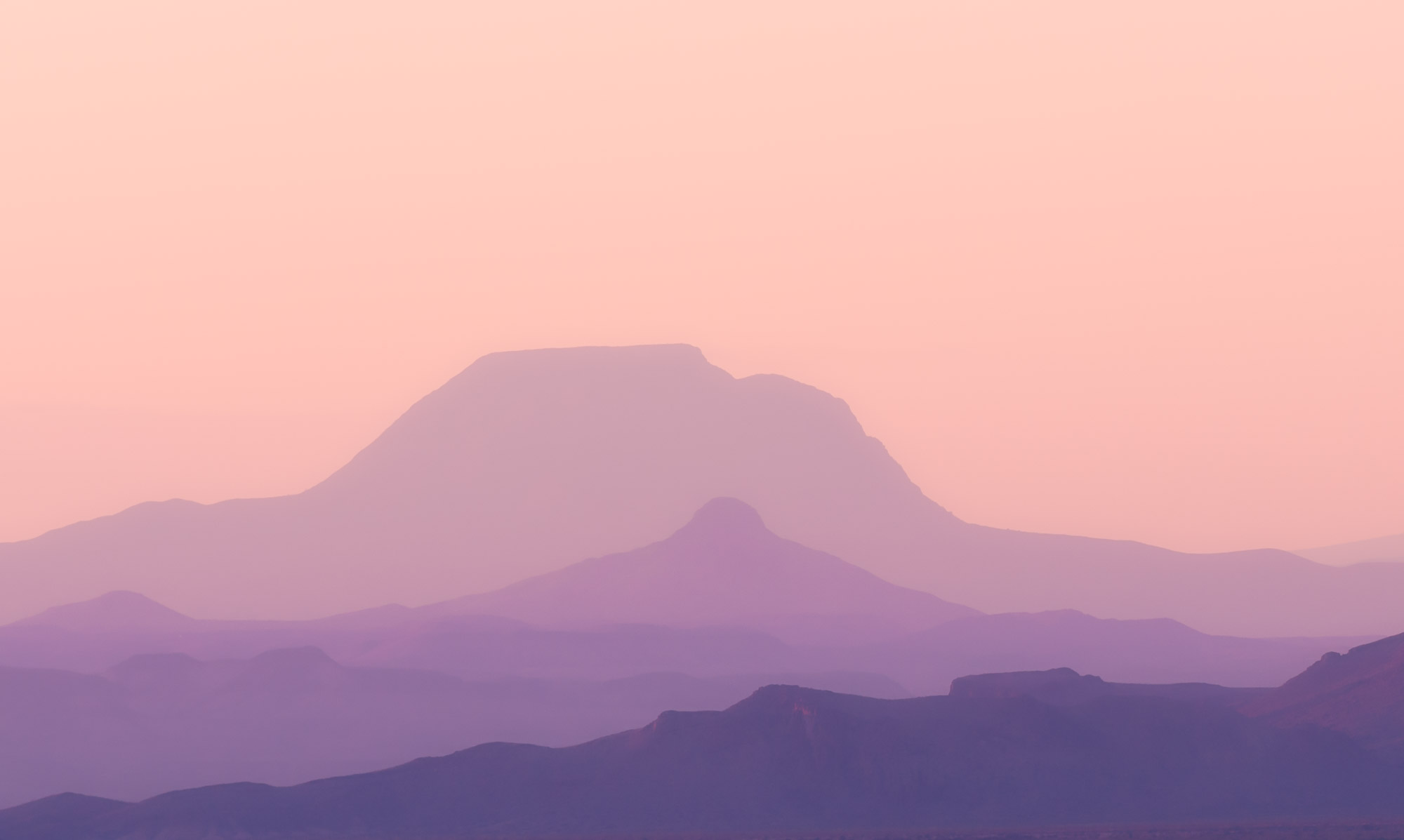 Distant hills at sunset - Big Bend National Park, Texas