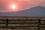 Smoky sunset - Red Rock Lakes National Wildlife Refuge, Montana