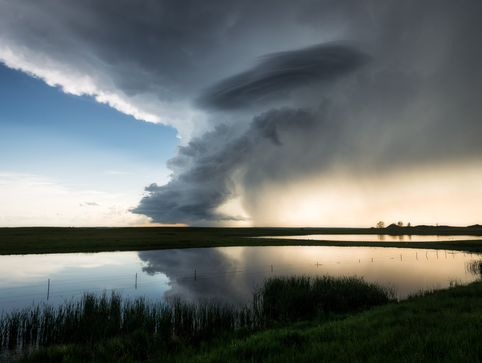 Dying supercell storm - Strasburg, North Dakota