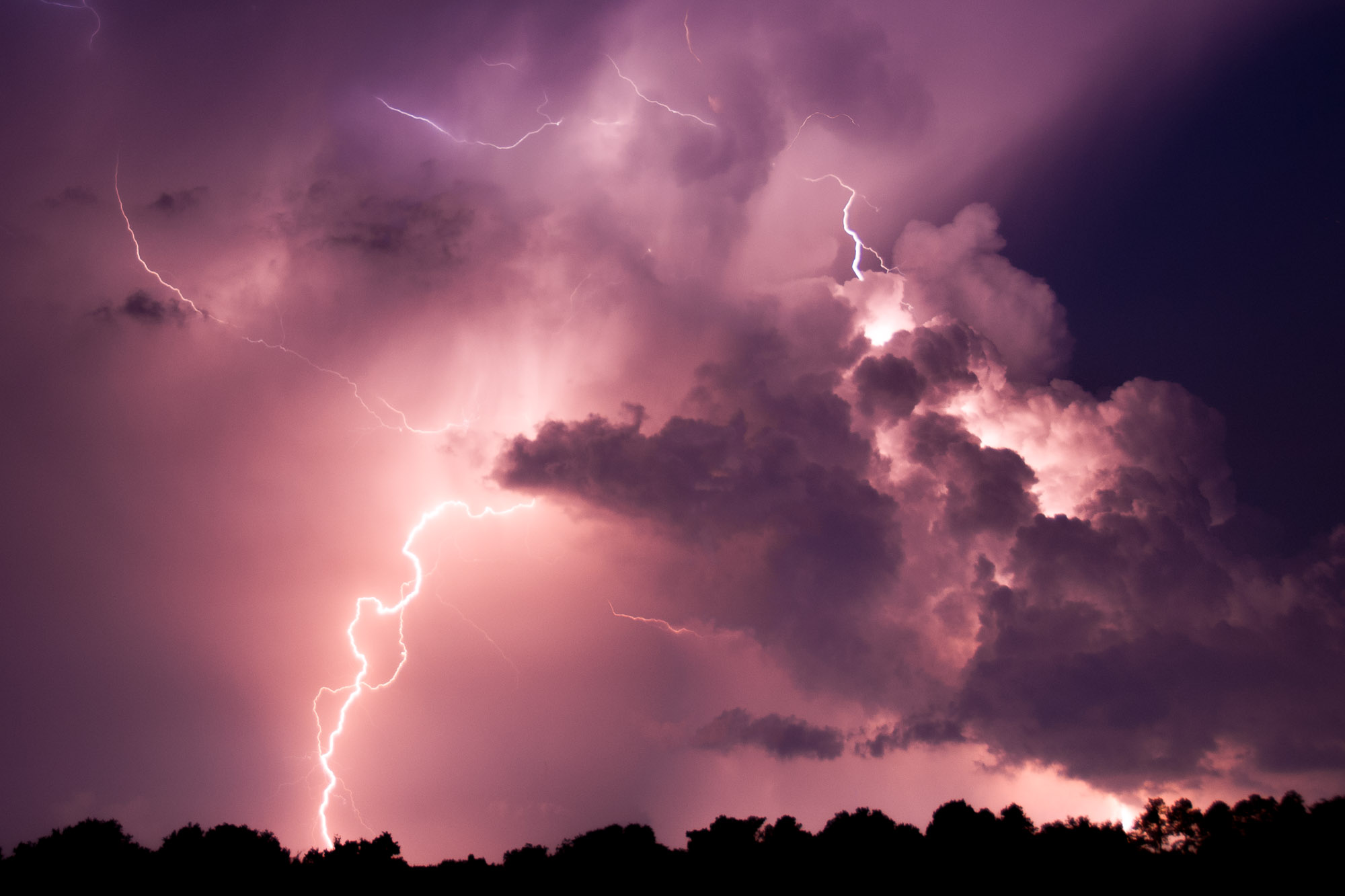 Night of Fire, Lightning near Gainesville, Florida