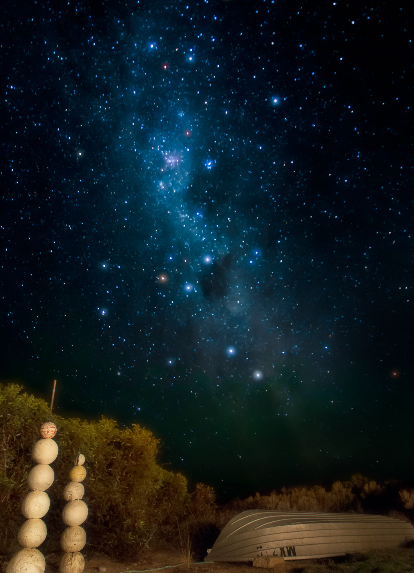 The Milky Way, Southern Cross, and Coalsack Nebula - Arno Bay, South Australia