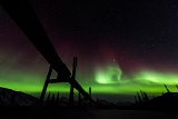 Aurora over Alaskan Pipeline - Brooks Range, Alaska
