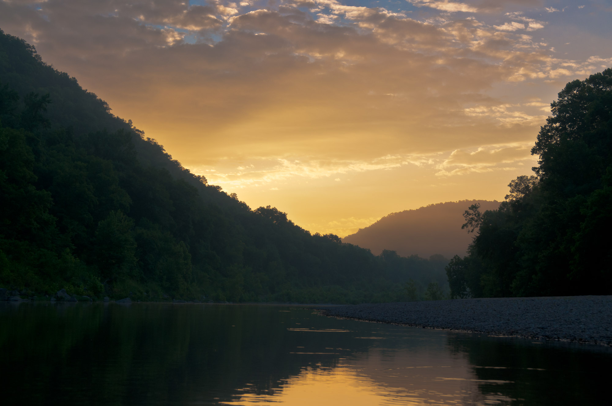 Sunrise - Buffalo River, Arkansas