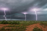 Lightning barrage - Guthrie, Texas