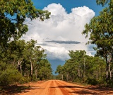 Monsoon clouds over Gunlom Road - Kakadu National Park, Northern Territory, Australia