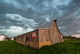 Barn and squall line - Biggsville, Illinois