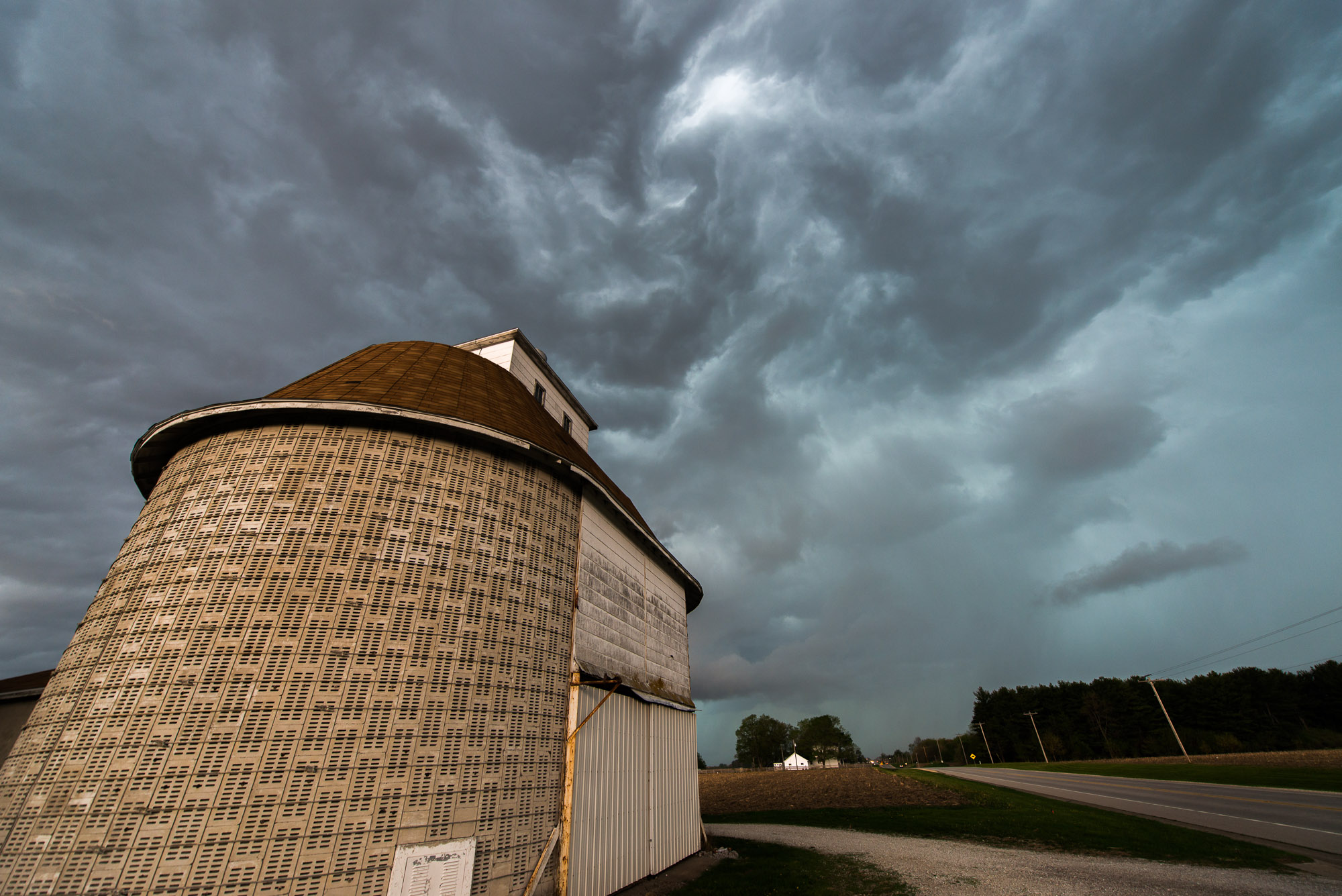Round barn and squall line - Biggsville, Illinois
