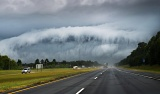 Ragged gust front with fractus cloud fingers - Shreveport, Louisiana