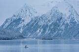 Paddleboarder on Resurrection Bay - Seward, Alaska