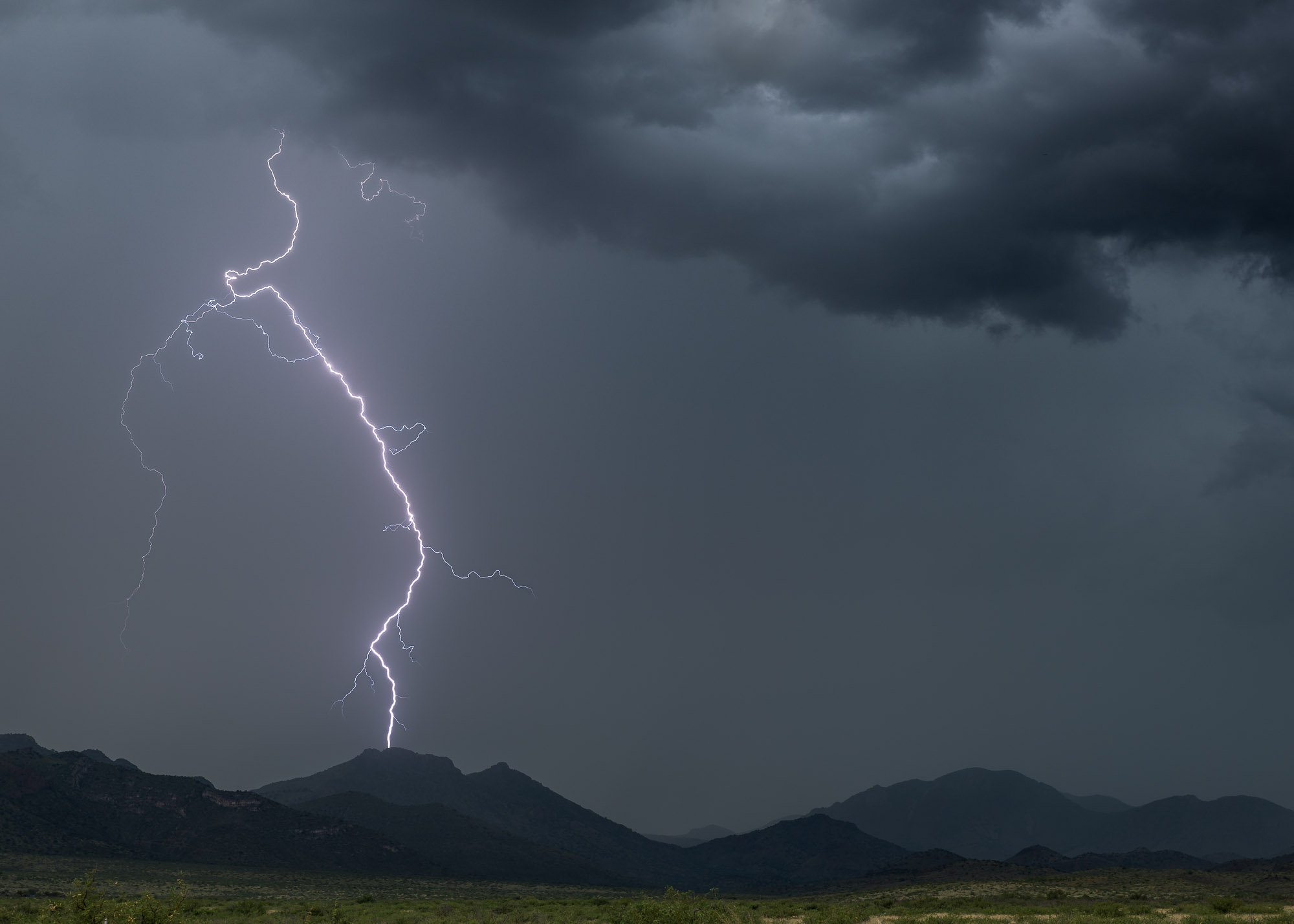 Lightning over the Winchester Mountains - Willcox, Arizona