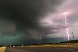 Lightning and hail storm - Alice, Texas