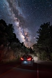 Milky Way over Car - Chiricahua National Monument, Arizona