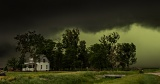 Farm house and approaching storm - Clarks, Nebraska